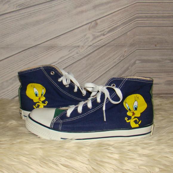 ae790068f362b3 Converse Shoes - 90 s VINTAGE HI-TOP CONVERSE TWEETY BIRD SHOES